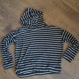 "Striped ""Soft & Sexy"" Plush sweater"